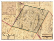 Westford Poster Map, 1857 Old Town Map Custom Print - Chittenden Co. VT