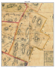 Bolton, Vermont 1857 Old Town Map Custom Print - Chittenden Co.