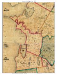 Burlington Area, Vermont 1857 Old Town Map Custom Print - Chittenden Co.