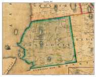 Charlotte, Vermont 1857 Old Town Map Custom Print - Chittenden Co.