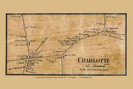 Charlotte Village, Vermont 1857 Old Town Map Custom Print - Chittenden Co.