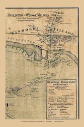 Winooski Village, Vermont 1857 Old Town Map Custom Print - Chittenden Co.