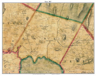 Essex, Vermont 1857 Old Town Map Custom Print - Chittenden Co.