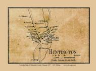 Huntington Village, Vermont 1857 Old Town Map Custom Print - Chittenden Co.