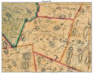 Richmond, Vermont 1857 Old Town Map Custom Print - Chittenden Co.