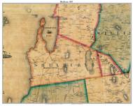 Shelburne, Vermont 1857 Old Town Map Custom Print - Chittenden Co.