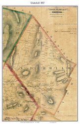 Underhill, Vermont 1857 Old Town Map Custom Print - Chittenden Co.