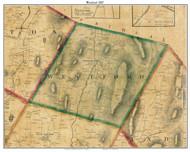 Westford, Vermont 1857 Old Town Map Custom Print - Chittenden Co.