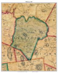 Williston, Vermont 1857 Old Town Map Custom Print - Chittenden Co.