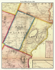 Fairlee and West Fairlee, Vermont 1858 Old Town Map Custom Print - Orange Co.