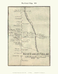 West Fairlee Village, Vermont 1858 Old Town Map Custom Print - Orange Co.