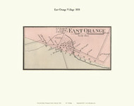 East Orange Village, Vermont 1858 Old Town Map Custom Print - Orange Co.