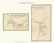 Strafford and South Strafford Villages, Vermont 1858 Old Town Map Custom Print - Orange Co.