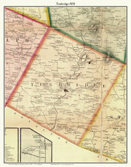 Tunbridge, Vermont 1858 Old Town Map Custom Print - Orange Co.