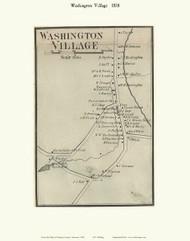 Washington Village, Vermont 1858 Old Town Map Custom Print - Orange Co.