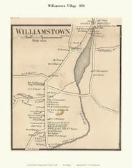 Williamstown Village, Vermont 1858 Old Town Map Custom Print - Orange Co.