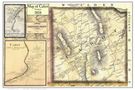 Cabot Poster Map, 1858 Old Town Map Custom Print - Washington Co. VT