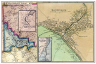Montpelier Poster Map, 1858 Old Town Map Custom Print - Washington Co. VT