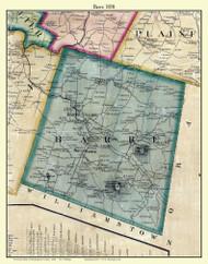 Barre, Vermont 1858 Old Town Map Custom Print - Washington Co.