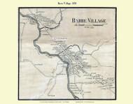 Barre Village, Vermont 1858 Old Town Map Custom Print - Washington Co.