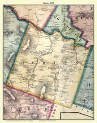 Berlin, Vermont 1858 Old Town Map Custom Print - Washington Co.