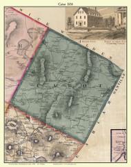 Cabot, Vermont 1858 Old Town Map Custom Print - Washington Co.