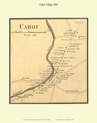 Cabot Village, Vermont 1858 Old Town Map Custom Print - Washington Co.