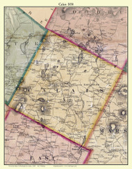 Calais, Vermont 1858 Old Town Map Custom Print - Washington Co.