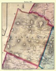 Duxbury, Vermont 1858 Old Town Map Custom Print - Washington Co.