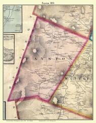 Fayston, Vermont 1858 Old Town Map Custom Print - Washington Co.