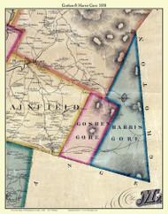 Goshen Gore and Harris Gore, Vermont 1858 Old Town Map Custom Print - Washington Co.