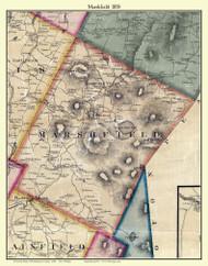 Marshfield, Vermont 1858 Old Town Map Custom Print - Washington Co.