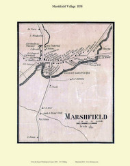 Marshfield Village, Vermont 1858 Old Town Map Custom Print - Washington Co.