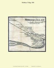 Middlesex Village, Vermont 1858 Old Town Map Custom Print - Washington Co.