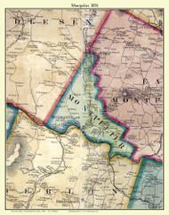 Montpelier, Vermont 1858 Old Town Map Custom Print - Washington Co.