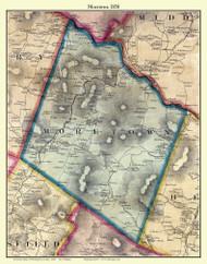 Moretown, Vermont 1858 Old Town Map Custom Print - Washington Co.