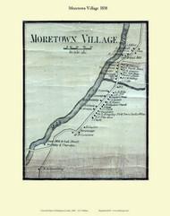 Moretown Village, Vermont 1858 Old Town Map Custom Print - Washington Co.