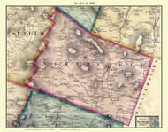 Northfield, Vermont 1858 Old Town Map Custom Print - Washington Co.