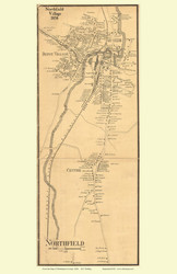 Northfield Village, Vermont 1858 Old Town Map Custom Print - Washington Co.