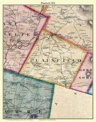 Plainfield, Vermont 1858 Old Town Map Custom Print - Washington Co.