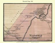 Waitsfield Village, Vermont 1858 Old Town Map Custom Print - Washington Co.