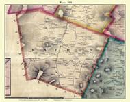 Warren, Vermont 1858 Old Town Map Custom Print - Washington Co.