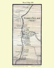 Warren Village, Vermont 1858 Old Town Map Custom Print - Washington Co.