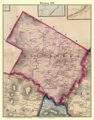Waterbury, Vermont 1858 Old Town Map Custom Print - Washington Co.