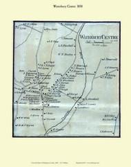 Waterbury Centre Village, Vermont 1858 Old Town Map Custom Print - Washington Co.