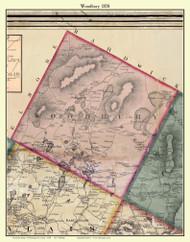 Woodbury, Vermont 1858 Old Town Map Custom Print - Washington Co.