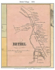 Bethel Village, Vermont 1856 Old Town Map Custom Print - Windsor Co.