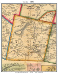 Chester, Vermont 1856 Old Town Map Custom Print - Windsor Co.