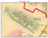Chester Village, Vermont 1856 Old Town Map Custom Print - Windsor Co.