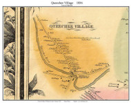 Queechee Village, Vermont 1856 Old Town Map Custom Print - Windsor Co.
